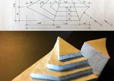 Bühnenbildschule Modell Treppe