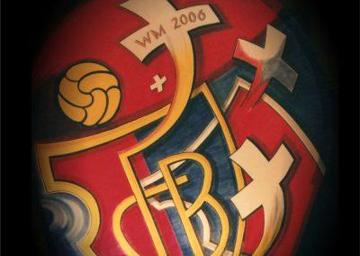Laterne Fasnacht Basel (Thema zu FCB und Fussbal-WM)