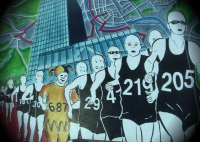 Laterne Fasnacht Basel (Thema zu Stadtmarathon)