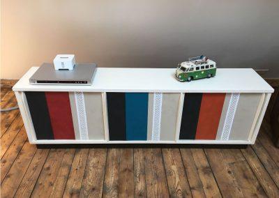Neue Oberflächengestaltung an altem Sideboard